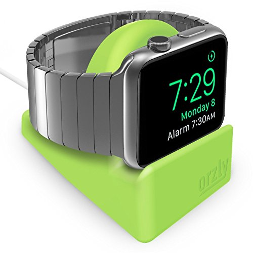 Orzly Night-Stand Compatible avec Apple Watch Vert - Station de Charge Mode Nightstand - Station d'accueil - Compatible Apple Watch 38 mm / 42 mm / 40mm / 44mm