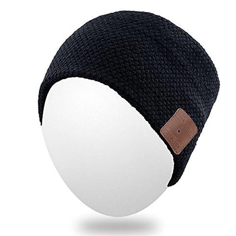 Rotibox Lightweight Sweatproof Casque Bluetooth Casque Casque Ecouteur Audio Music Headband Haut-parleur avec haut-parleur stéréo et microphone mains libres pour la gymnastique Fitness Fitness Running - Noir