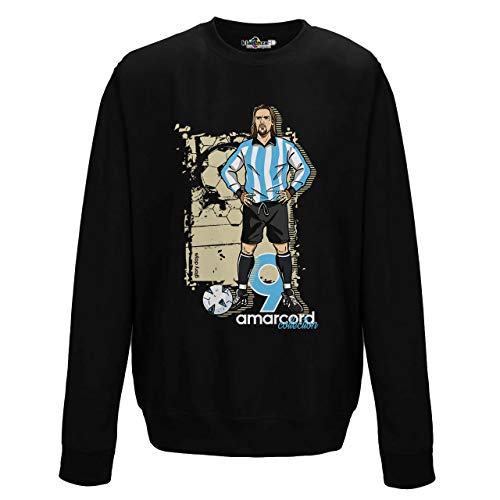 KiarenzaFD Amarcord Vintage Batigol Glory Argentina Albiceleste Sweatshirt, KFG02612-L-black, schwarz, L -