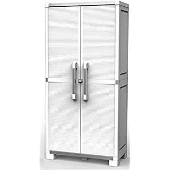 Keter XL Pro Utility Tall Cabinet - White, 88x45x187 cm ...