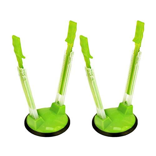 leegoal Baggy Rack, 2 Stück Händefrei-Clip Kunststoff Lebensmittel-Aufbewahrungstasche Halter Sandwich-Tüten-Racks für Gefrierschrank & Aufbewahrungstasche grün - Ziploc-beutel-halter