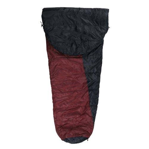 10T Arctic Sun XXL Camping Schlafsack bis -16°C Outdoor Mumienschlafsack 230x85cm Hüttenschlafsack mit 1700g Trekking Reiseschlafsack für 3 / 4 Jahreszeiten Frühling Sommer Herbst -