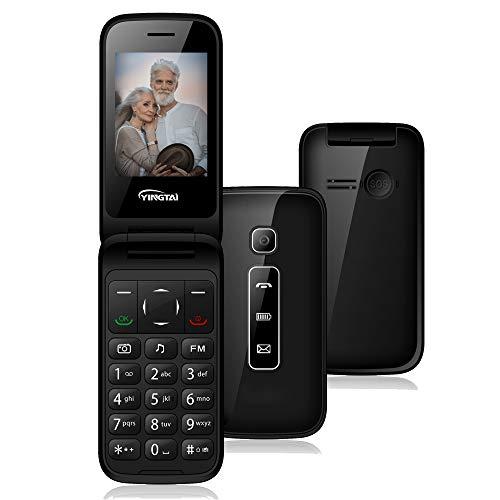 Teléfono Móvil para Personas Mayores Teclas Grandes con Tapa de Emergencia Botón SOS Fácil de Usar para Ancianos by T31 3G