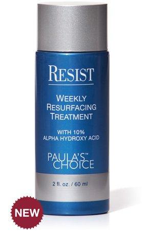 Paula's Choice RESIST Weekly Resurfacing Treatment with 10% Alpha Hydroxy Acid 2 Oz /60 Ml (Free !! Seaweed Mud Mask Blackhead Remover 2 Pieces)