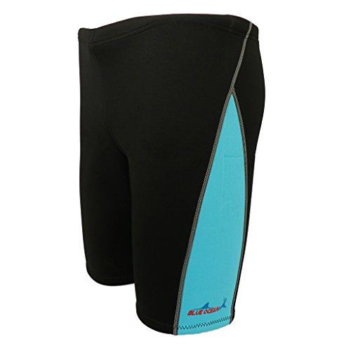 perfk Neoprene Shorts Neopren Pants/Hose 1,8 mm, Badehose Neoprenhose Unisex Kurz, Atmungsaktiv Wassersport - Blau, M