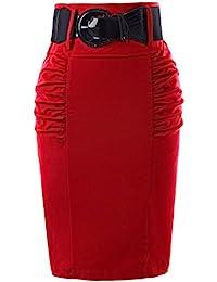 59e0a641a2 Kate Kasin Elegant Women Vintage Floral Printed Bodycon Pencil Skirt Midi  GF610