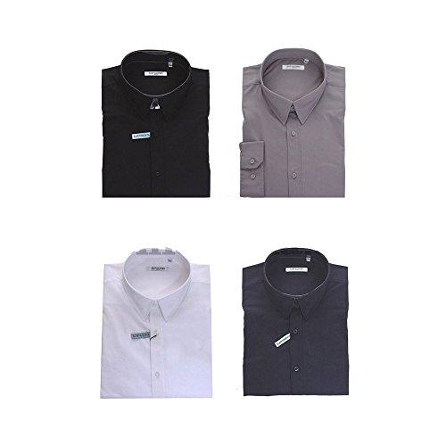 Camicia Maxfort London taglie forti uomo - Grigio scuro, 8XL