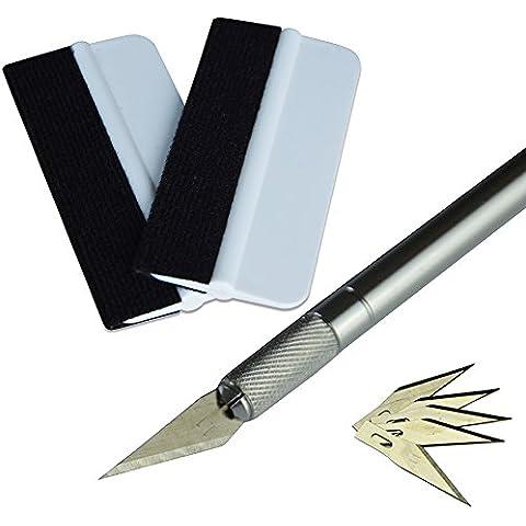 Ehdis® película del vinilo de los kits de instalación del aplicador: Mini suave tinte de envolver escobilla de goma, 30 grados de cuchillo para uso Craft con tapón de seguridad,