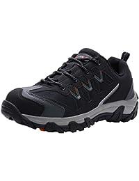 Zapatos de Seguridad para Hombre Zapatillas de Seguridad Trabajo Industrial y Deportiva con Puntera de Acero LM-105