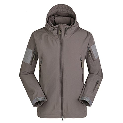 Lorata Winter Männer Softshell Wasserdicht Winddicht Fleece-Jacke Softshelljacke Trekkingjacke Wanderjacke Outdoorjacke