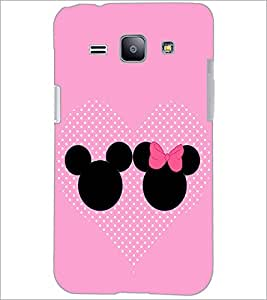 PrintDhaba Mickey and Minnie D-2359 Back Case Cover for SAMSUNG GALAXY J1 (Multi-Coloured)
