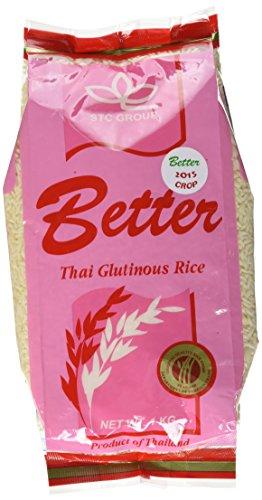 Better Brand Riz Gluant 1 kg - Lot de 5