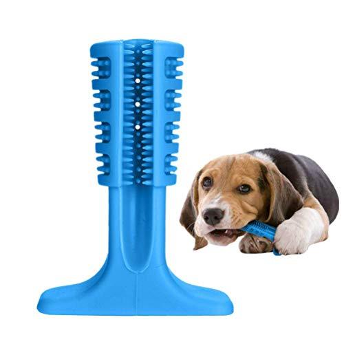 ALISA-Do Biss Bürsten Stick Haustiere Oral Dental Health Care Aggressive Kauen Spielzeug für Hunde Unterhaltung & Zahnreinigung, ungiftig Silikon Doggy Brush Stick,Blue,M -