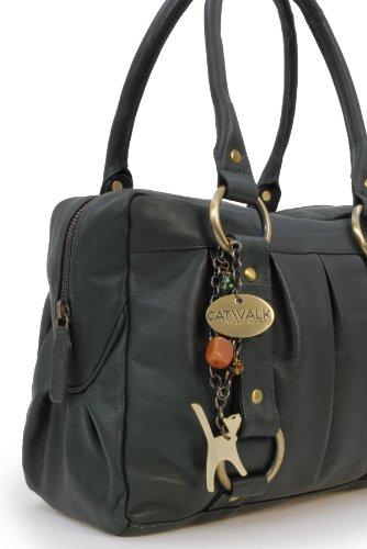 """Lederhandtasche """"Megan"""" von Catwalk Collection - GRÖßE: B: 29,5 H: 19,5 T: 12 cm Grün"""