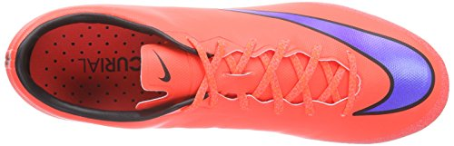Nike Mercurial Veloce Ii Ag, Chaussures de Football Compétition Homme rouge (Bright Crimson/Prsn Violet-Blk)