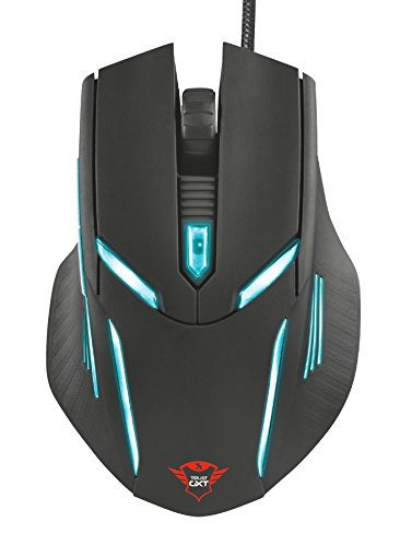 Trust GXT 152 Illuminated Gaming Maus für PC (2400 DPI, 6 Tasten, beleuchtet, Nylonkabel)
