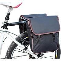 Suntime Bolsa de Bicicleta Asiento Trasero Bolso Maletero Impermeable Cargo Troncal para la Lluvia Gran Capacidad Portaequipajes 25L Negro