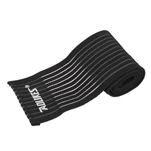 Chevillère Elastique Sport Bandage Soulagement de La Douleur de Pied - Noir