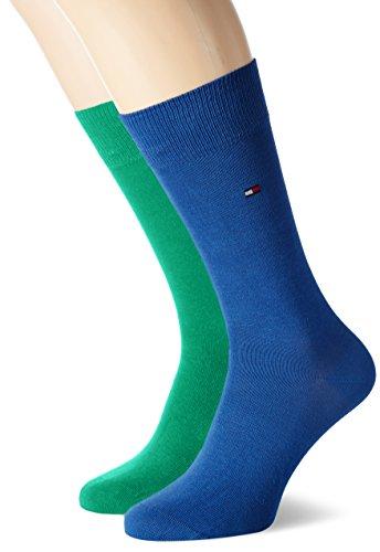 Tommy Hilfiger Herren Socken Th Men Classic 2er Pack, BLICKDICHT, Grün (Irish Green 375), Gr. 39/42
