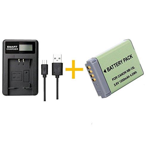 1 pcs 1250 mAh NB-13L NB13L Batterie avec LCD Chargeur de Batterie Unique pour Canon G5X G7X G7X Mark II G9X SX620 HS SX720 HS Caméra