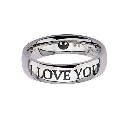 Star Wars I love You acciaio Inossidabile anello, Acciaio inossidabile, 6, cod. 839546005961