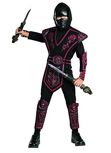 Ninja Skull Kostüm Red (Red Skull Warrior Ninja Chld)