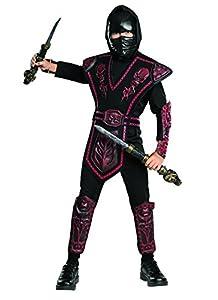 Disfraz de Ninja Rojo enmascarado para niño, infantil 5-7 años (Rubie