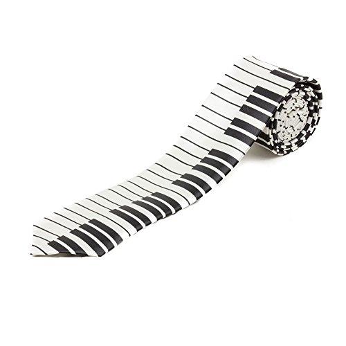 Krawatte Herren Accessoires Klaviatur Designer Neu