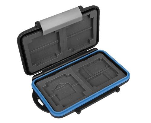 Box Baby-Safe MC 5di JJC per schede di memoria CF, XD, SD, MicroSD e Memory Stick PRO Duo-Carte per conservare/protezione contro polvere, acqua, sporco e urti
