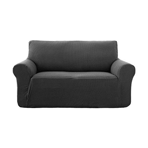 Deconovo copridivano trapuntato fodera protettiva per divano 2 posti grigio