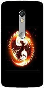 Snoogg Dragon Fury Designer Protective Back Case Cover For Motorola Moto X Play