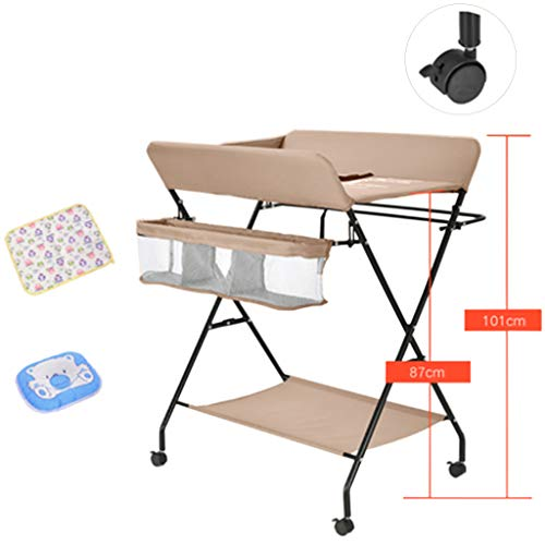 Klappbarer Wickeltisch für kleine Räume, Tragbare Kindergarten Säuglingswindel Massagestation Kommode für Haushaltsreisen, 0-3 Jahre alt
