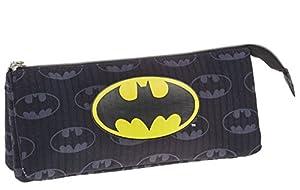 Batman Estuche portatodo Triple, Color Negro, 22 cm (Karactermanía 33538)