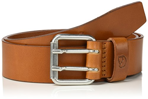 Fjällräven Herren Singi Two-Pin Belt Gürtel, Leather Cognac, 85cm