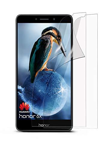 moex 2X Huawei Honor 6X | Schutzfolie Klar Bildschirm Schutz [Crystal-Clear] Screen Protector Display Handy-Folie Dünn Bildschirmschutz-Folie für Honor 6X / Huawei GR5 (2017) / Mate 9 Lite Bildschirmfolie