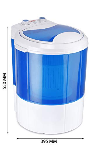 Hilton 3 kg Single-Tub Washing Machine with Spin Dryer (Blue)