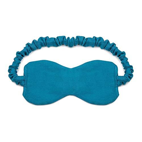 Jnday Schlafmaske aus 100% Baumwolle mit Lavendelblüten-Füllung | kuschelweiches Bio Baumwoll-Satin | Edle Schlaf-Brille für Damen und Herren | Augenmaske für optimale Erholung