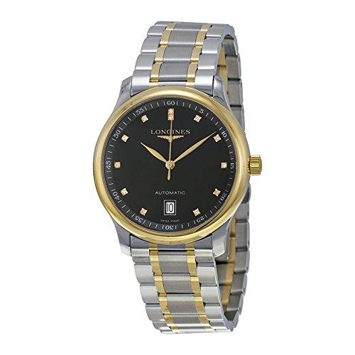 Longines The Master Diamond Black Dial Mens Watch L2.628.5.57.7