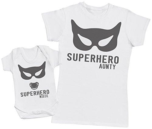 Zarlivia Clothing Superhero Niece - Regalo para tía y bebés en un Bo