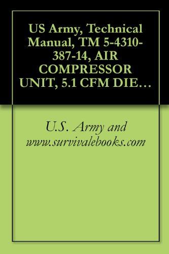 US Army, Technical Manual, TM 5-4310-387-14, AIR COMPRESSOR UNIT, 5.1 CFM DIESEL ENGINE DRIVEN MODEL KA7-DA, (NSN 4310-01-220-7262), military manauals, special forces (English Edition)
