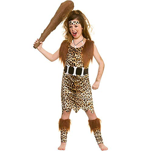 Unbekannt Steinzeit-Höhlenmädchen Kostüme für Kinder (Wicked Kostüm Kinder)