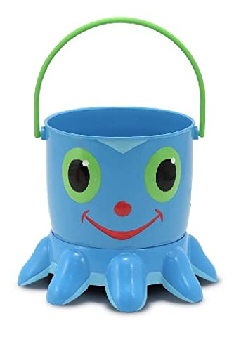 Melissa & Doug Sunny Patch Flex Octopus Sand Pail and Sifter