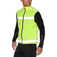 Craft Active - Chaleco de running para hombre, tamaño Medio, color amarillo neón