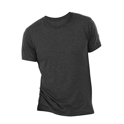 Canvas Triblend Herren T-Shirt mit Rundhalsausschnitt (Medium) (Anthrazit Schwarz Triblend) -