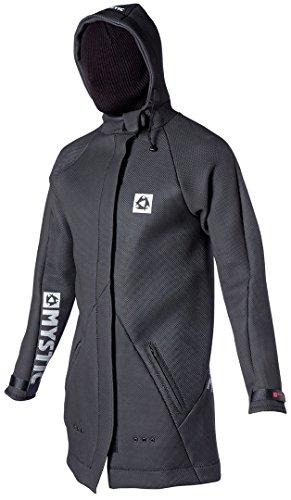 Mystic Long Sharkskin Battle Jacket in Black 130420 Sizes- - Large