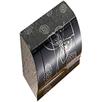 Jizhi Caja De Tejido-Inodoro Cajas De Papel Higiénico Y Bandeja De Inodoros Bandeja De Papel Higiénico Toallas Rack WC Mano Bandeja Volumen Bandeja del Punzón Negro Mariposa 20Cm