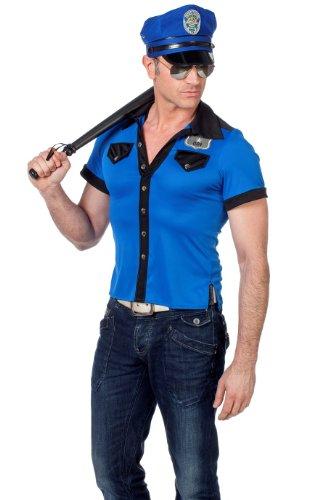 POLIZIA strip spogliarellista SHIRT Polizist, Blu - blu, 54