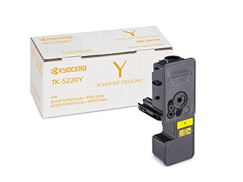 Kyocera TK-5220Y Original Toner-Kartusche Gelb 1T02R9ANL1. Für ECOSYS M5521cdn, ECOSYS M5521cdw, ECOSYS P5021cdn, ECOSYS P5021cdw. Amazon Dash Replanishment-Kompatibel