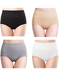 41354397dffe wirarpa Ladies Knickers High Rise Soft Bamboo Modal Underwear Panties for  Women Stretchy Comfortable Briefs Multipack