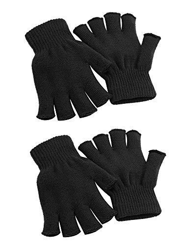 guanti senza dita uomo Cooraby - 2 paia di guanti unisex caldi